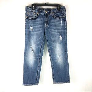 MISS ME Boyfriend Crop Jeans Size 27